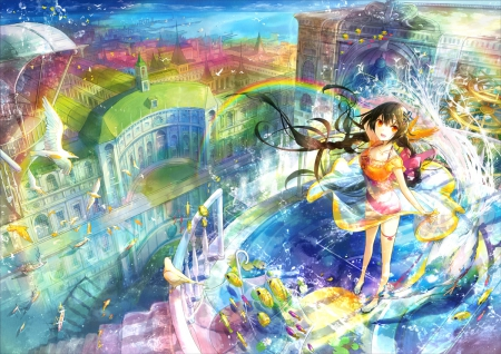 Rainbow City Other Anime Background Wallpapers On
