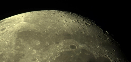 Lunar landscape - moon, craters, nature, space