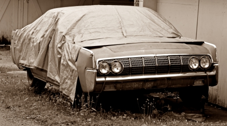 Covered Classic - classic car, 1964 lincoln, classic lincoln, 1964, lincoln, lincoln continental, Covered Classic