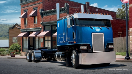 1982 Peterbilt 362 Cabover - Other & Cars Background