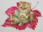 ..Autumn Leaf Kitty..
