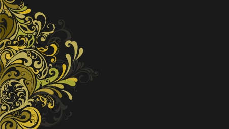Floral Vector - grey background, graphics, abstract, vector, floral