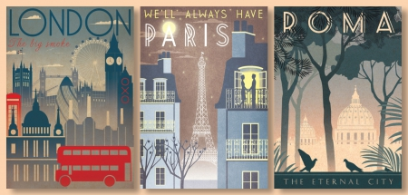Travellers Delights - posters, holidays, travel, london, paris, rome