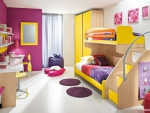 Cheerful bedroom for kids