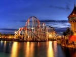 evening on a wonderful roller coaster hdr
