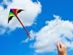 Kite and blue sky