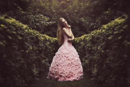 One Million Roses - photography, model, lady, pink