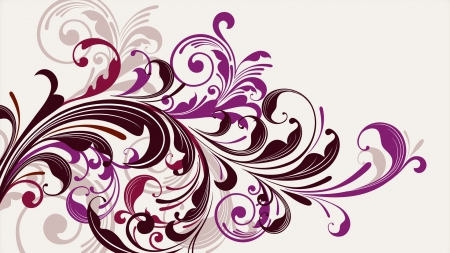 Purple Florals - simple background, purple, graphics, florals, vector