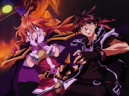 Anime Crossover - Lina, Anime Guy, Anime, Inverse, Anime Magician, Magician, Slayers, Orphen, Anime Crossover, Lina Inverse, Anime Girl