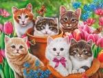 Garden kittens