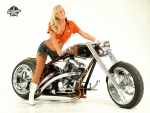 Cowgirl On A Steel Horse