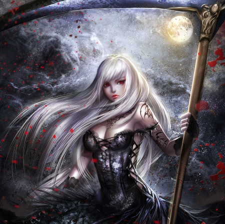 Sweet death fantasy abstract background wallpapers on - Abstract anime girl ...