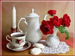 red roses for tea time