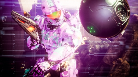 Catch dat Ball - halo, multiplayer, plasma, purple, online, binary rifle, lila, spartan