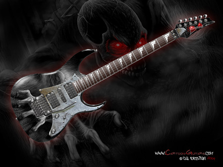 dark Guitar - guitar, music