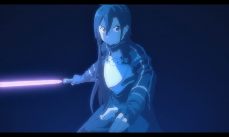 Kirito - glow, kazuto, guy, kazuto kirigaya, magic, kirito, blade, ggo, anime, weapon, sword, light, male, glowing, kirigaya kazuto, sword art online, kirigaya, plain, armor, boy, sao, dark, simple, sinister, gun gale online