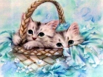..Basket Buddies in Blue..