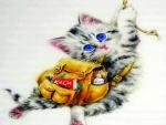 ..Hanging Kitten..