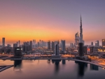 dawn over dubai hdr