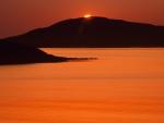orange sound in a united kingdom sunset