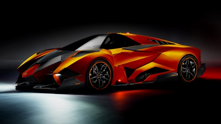 Lamborghini Egoista - exotic, cool, lamboghini, orange, car, egoista, lambo, fast