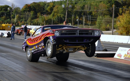 Drag Racing Barracuda Plymouth Cars Background