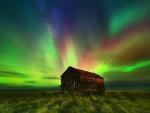 amazing colorful dream aurora scene