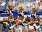 Cowboy Cheerleaders Working It