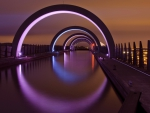 the falkirk wheel rotating boat lift in scotland