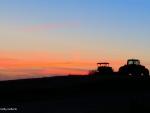 Farm Tractors in the Sunrise
