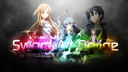 Sword Art Online Kirito Asuna Sinon Yui Other Anime