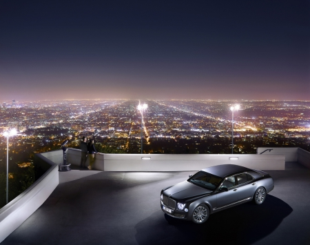 Exclusive Parking - quiet, Bentley, privacy, lights, Reflection, people, exotic car, Cityscape, Night, luxury