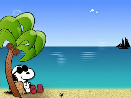Snoopy in paradise other entertainment background wallpapers on desktop nexus image 1815335 - Snoopy wallpaper for walls ...