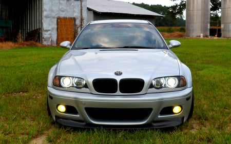 BMW E46 M3 Front End Barn Shot - e46, bmw, car, m3, import, sports car