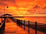 Sunset over Australian Pier