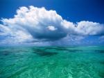 Beautiful Sky over Turquoise Ocean