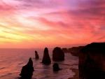 Sunset over Victoria National Park in Australia