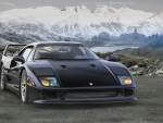 F40 and mountains