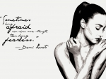 Demi Lovato Fearless Quote Wallpaper