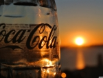 Coke glass at sunset