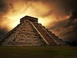 Pyramid under Cloudy Skies