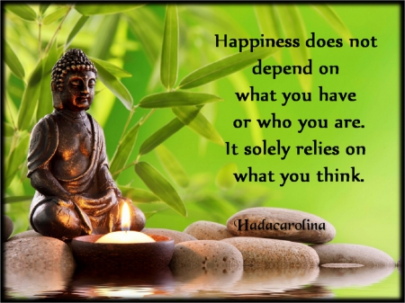 Happiness Words - candle, thoughts, moments, happiness, buddha, words, positivity, feelings, hadacarolina, meditation