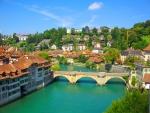 Switzerland's Bern Bridge on a bright day