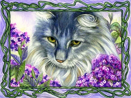 ..Cherish Jasper.. - pretty, draw and paint, beautiful, adorable, paintings, cherish, flowers, furs, animals, lovely, curious, love four seasons, creative pre-made, spring, cute, cats, kitten