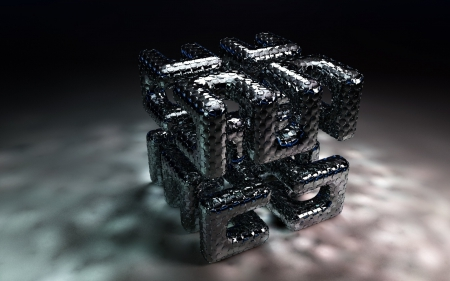 3d cube - art, 3d, cg, cube, abstract
