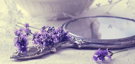you call yourself - for lady, purple atmosphere, flowers, mirror, you call yourself, delicate