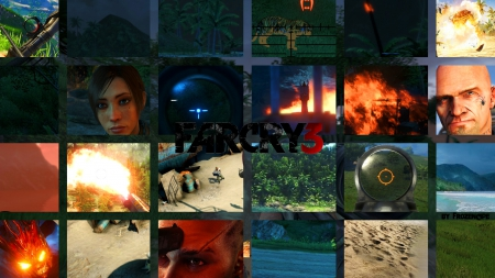 Farcry 3 - house, Far, scope, 1080, 1920, fire, plane, sand, djungel, Original, island, x, 3, cry