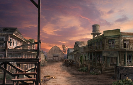 Wild West Ghost Town 3d And Cg Abstract Background