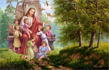 Let the children come to me collages abstract - Child jesus images download ...