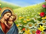 Saint Mary carries our savior